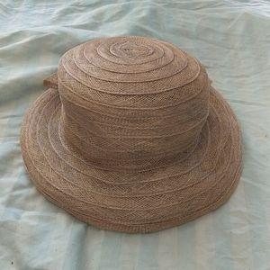 April Cornell Women's Hat Straw Flower & Sewn Trim